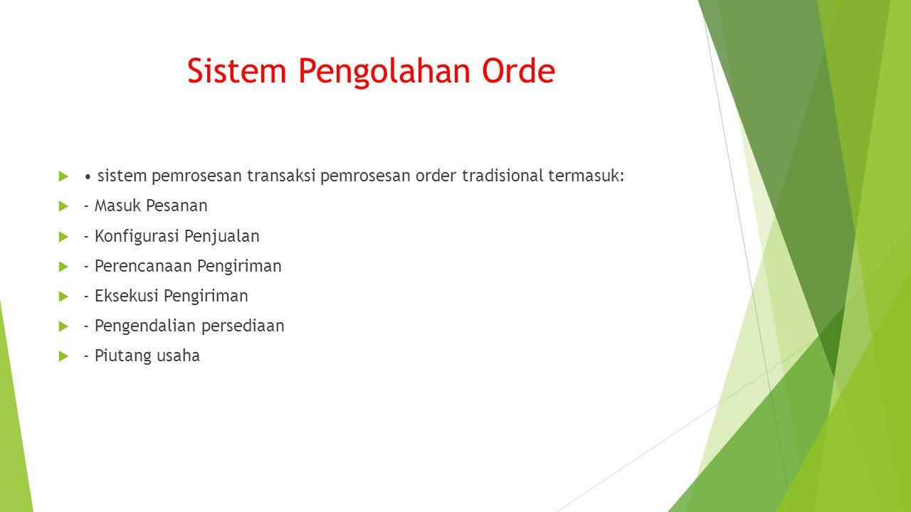 Sistem Pengolahan Orde