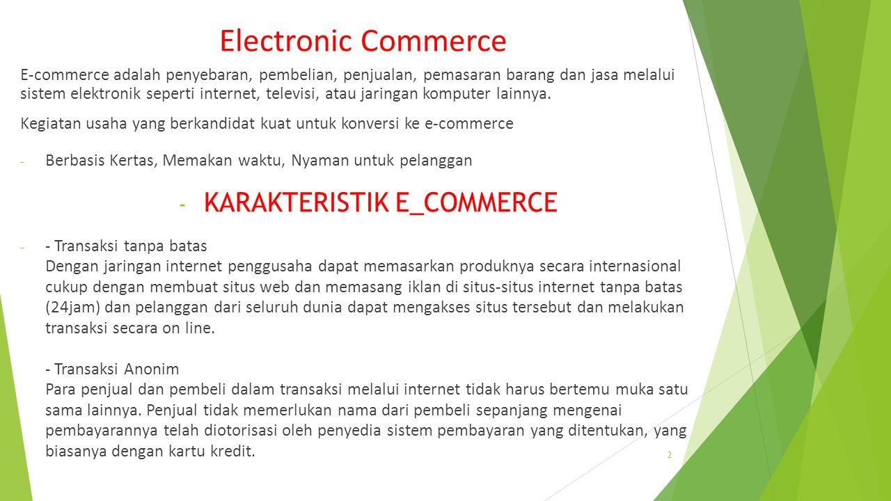 KARAKTERISTIK E_COMMERCE