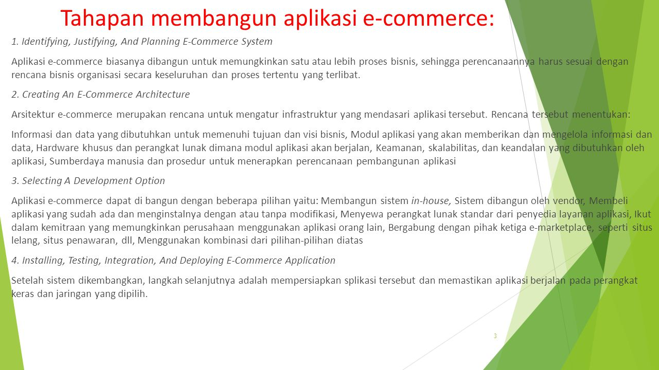 Tahapan membangun aplikasi e-commerce: