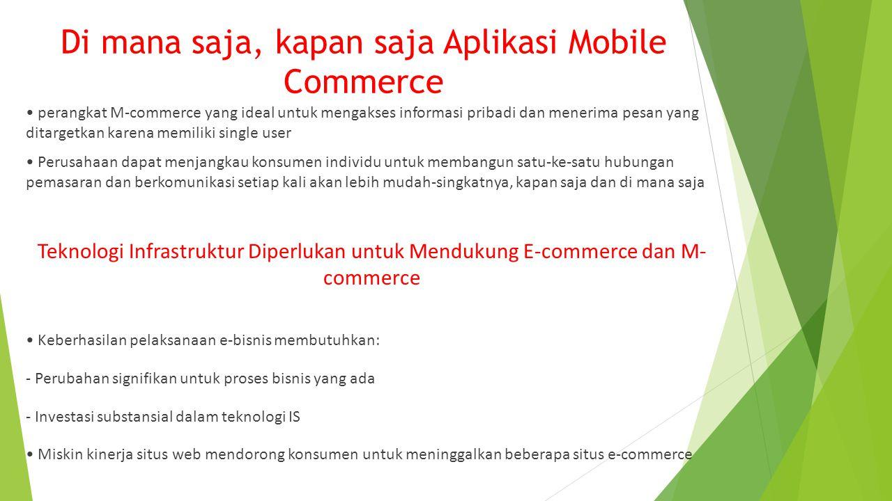 Di mana saja, kapan saja Aplikasi Mobile Commerce