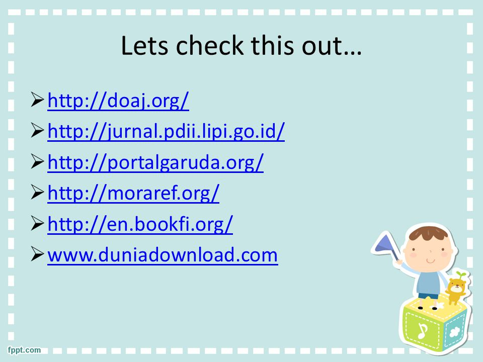 Lets check this out… http://doaj.org/ http://jurnal.pdii.lipi.go.id/