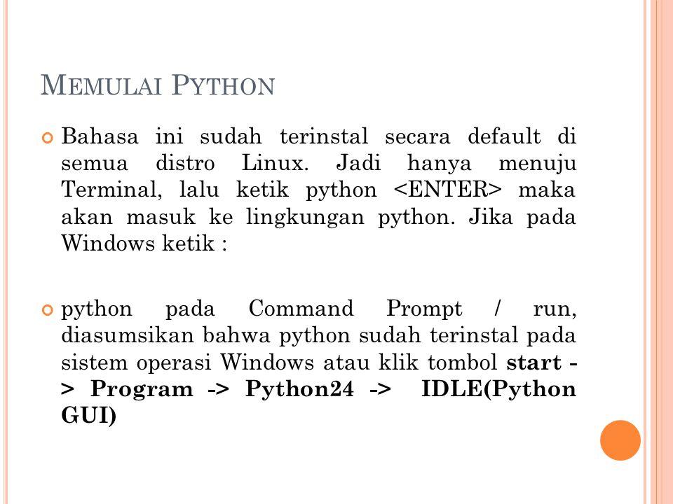 Memulai Python