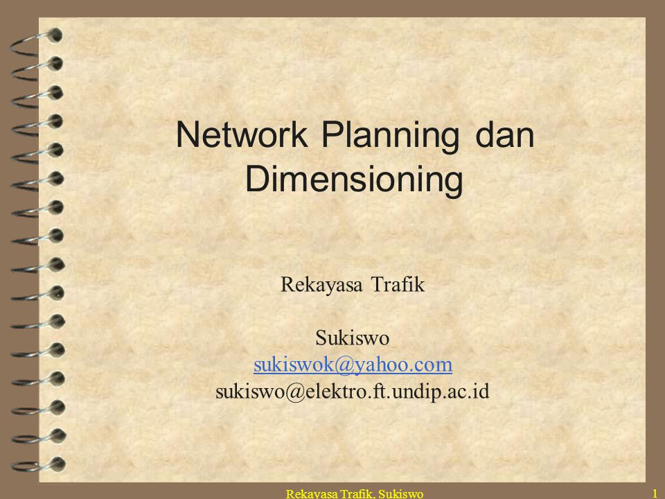 Network Planning dan Dimensioning