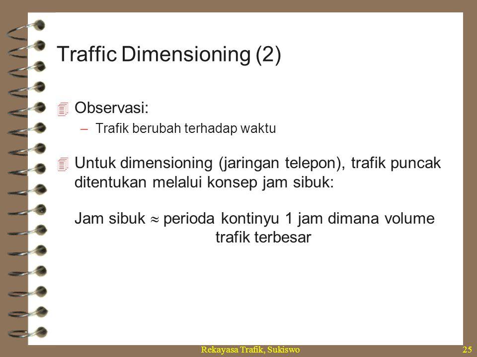 Traffic Dimensioning (2)