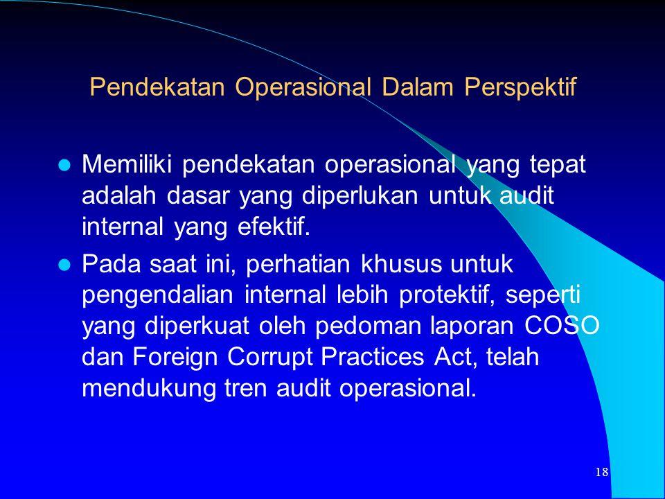 Pendekatan Operasional Dalam Perspektif