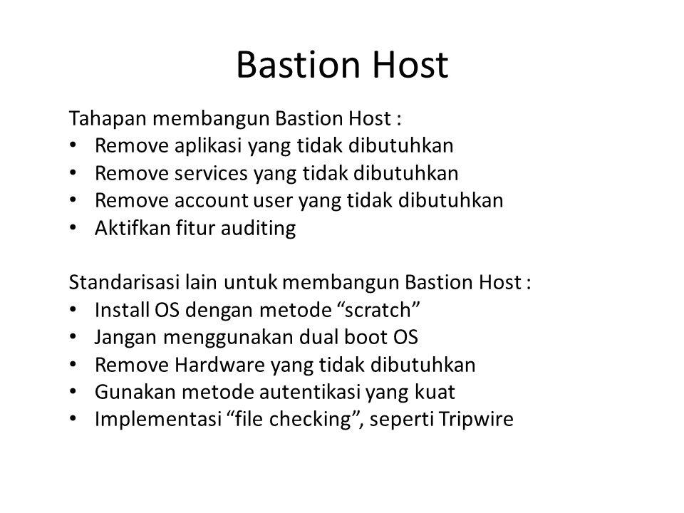 Bastion Host Tahapan membangun Bastion Host :