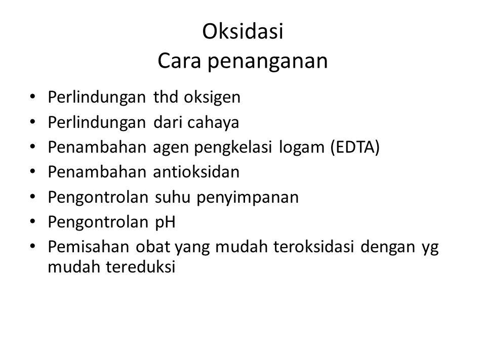 Oksidasi Cara penanganan