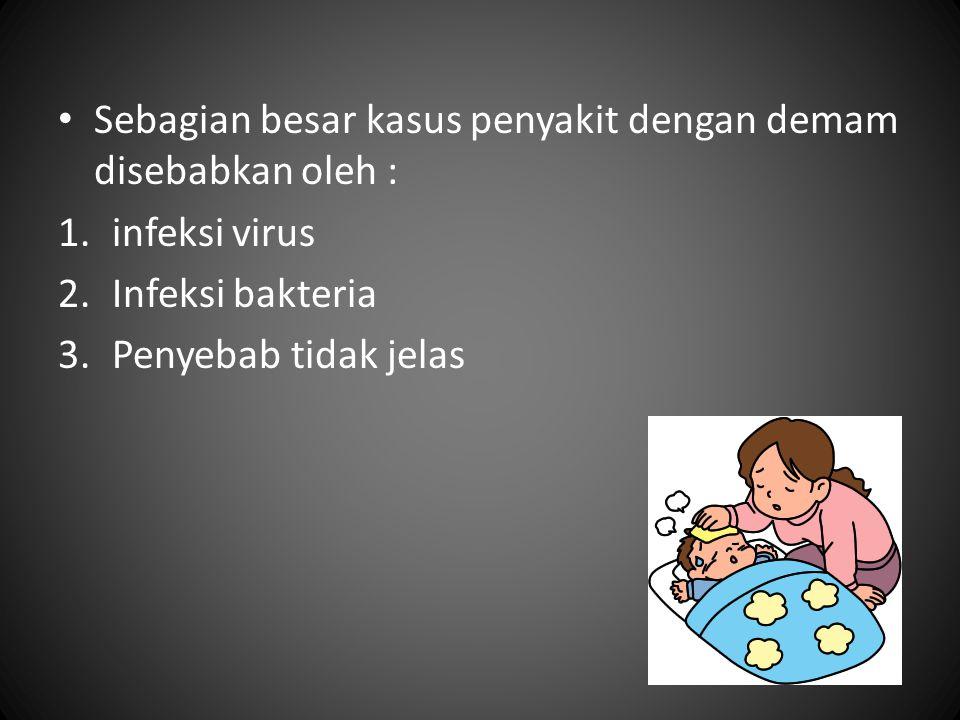 Sebagian besar kasus penyakit dengan demam disebabkan oleh :