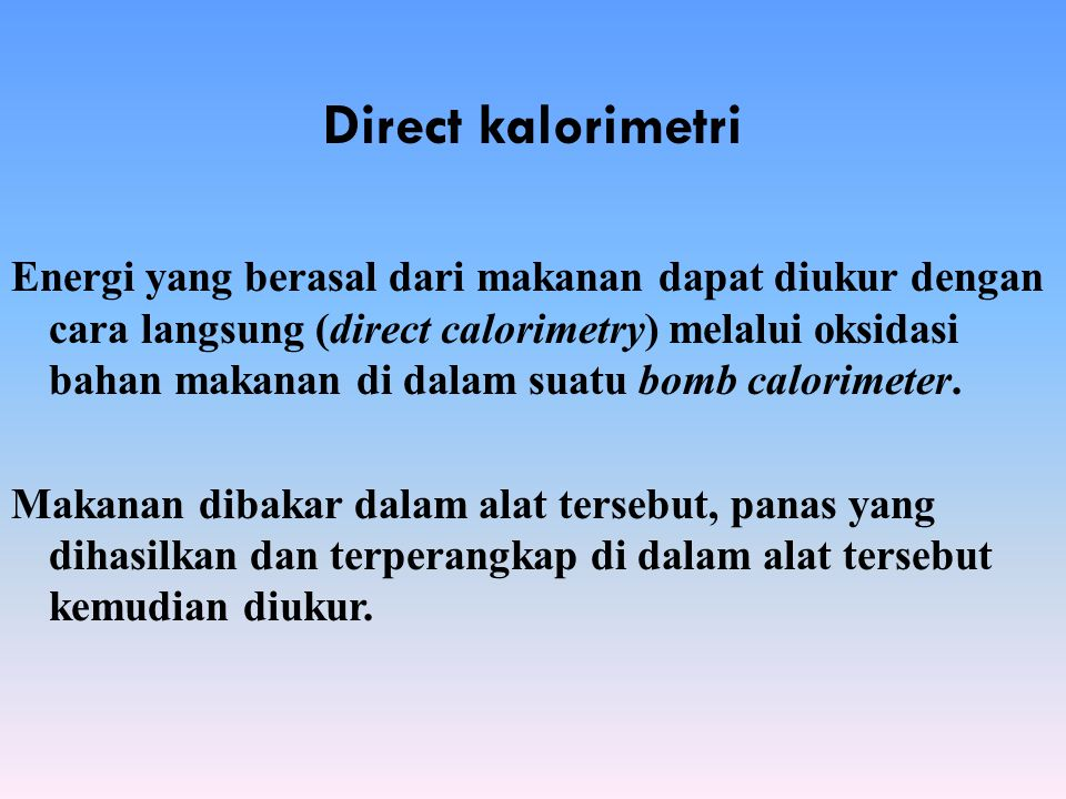 Direct kalorimetri