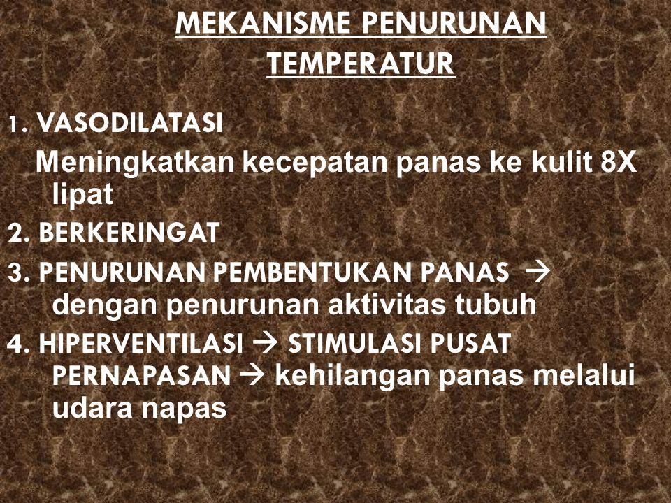 MEKANISME PENURUNAN TEMPERATUR