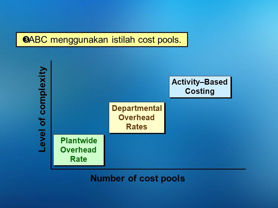 ABC menggunakan istilah cost pools.