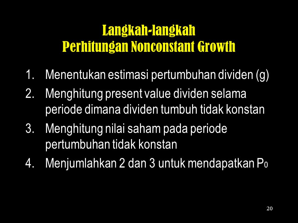 Langkah-langkah Perhitungan Nonconstant Growth