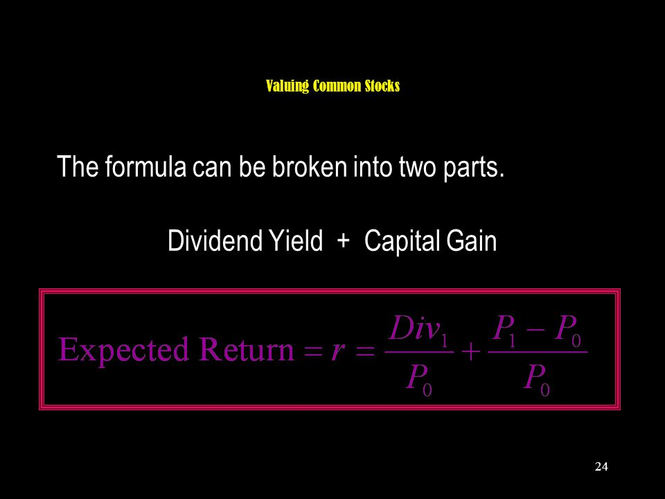 Dividend Yield + Capital Gain