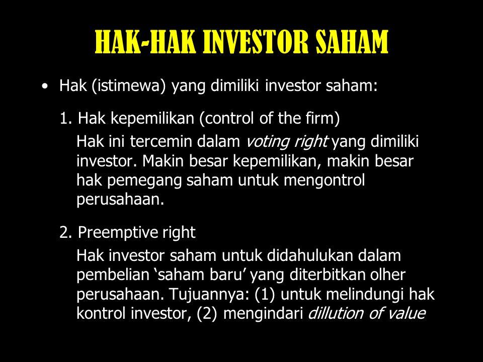 HAK-HAK INVESTOR SAHAM