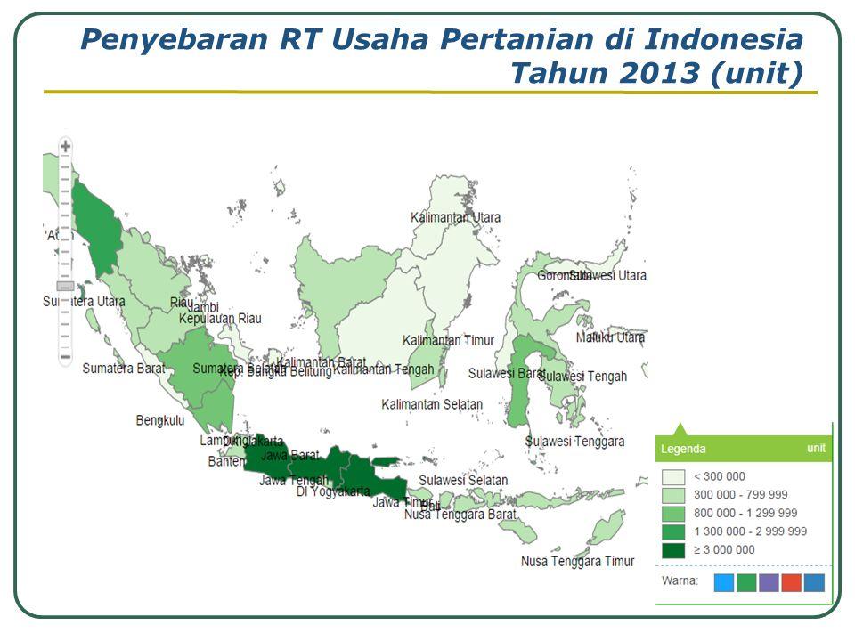 Penyebaran RT Usaha Pertanian di Indonesia Tahun 2013 (unit)