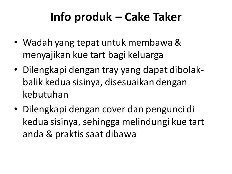 Info produk – Cake Taker