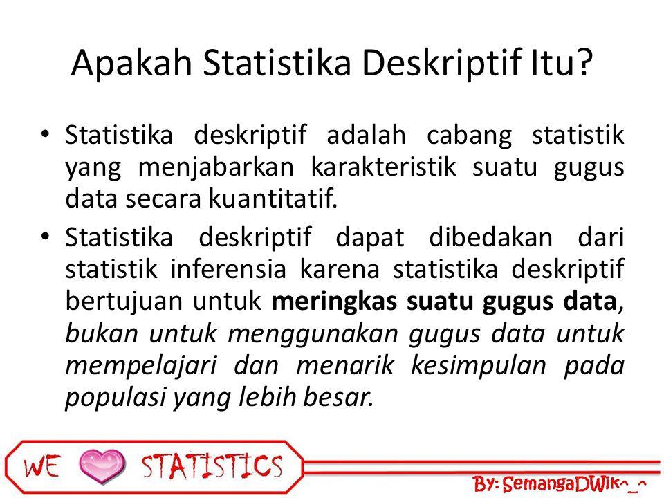 Apakah Statistika Deskriptif Itu