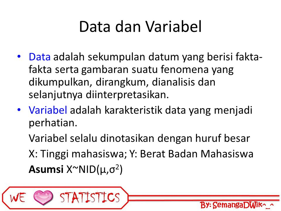 Data dan Variabel