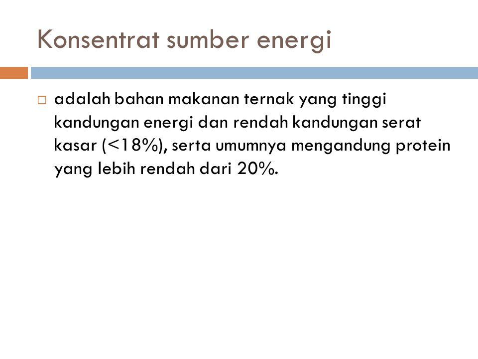 Konsentrat sumber energi