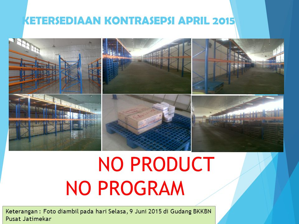 KETERSEDIAAN KONTRASEPSI APRIL 2015