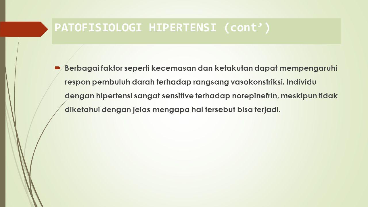PATOFISIOLOGI HIPERTENSI (cont')