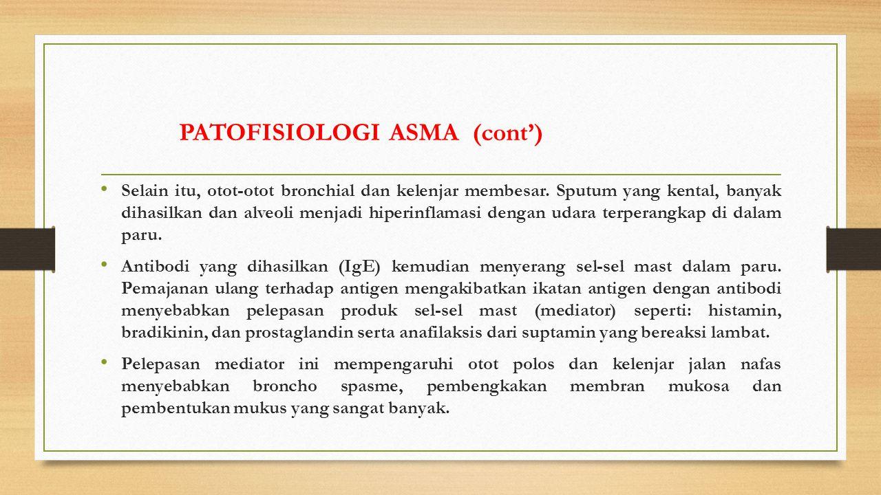 PATOFISIOLOGI ASMA (cont')
