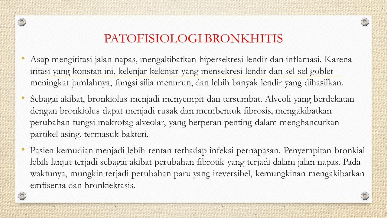 PATOFISIOLOGI BRONKHITIS