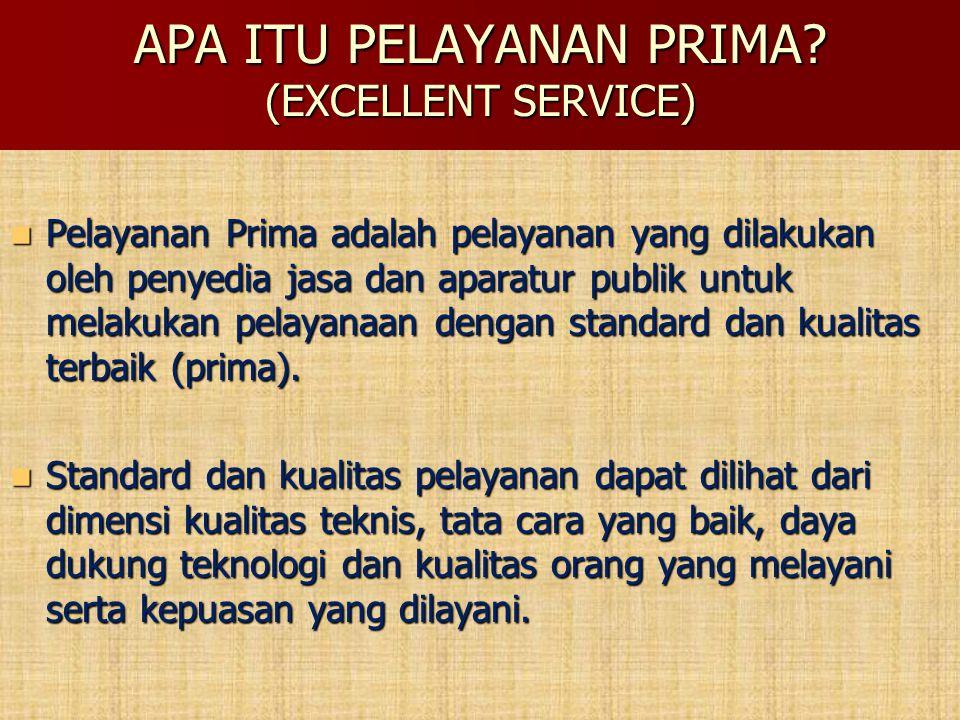 APA ITU PELAYANAN PRIMA (EXCELLENT SERVICE)