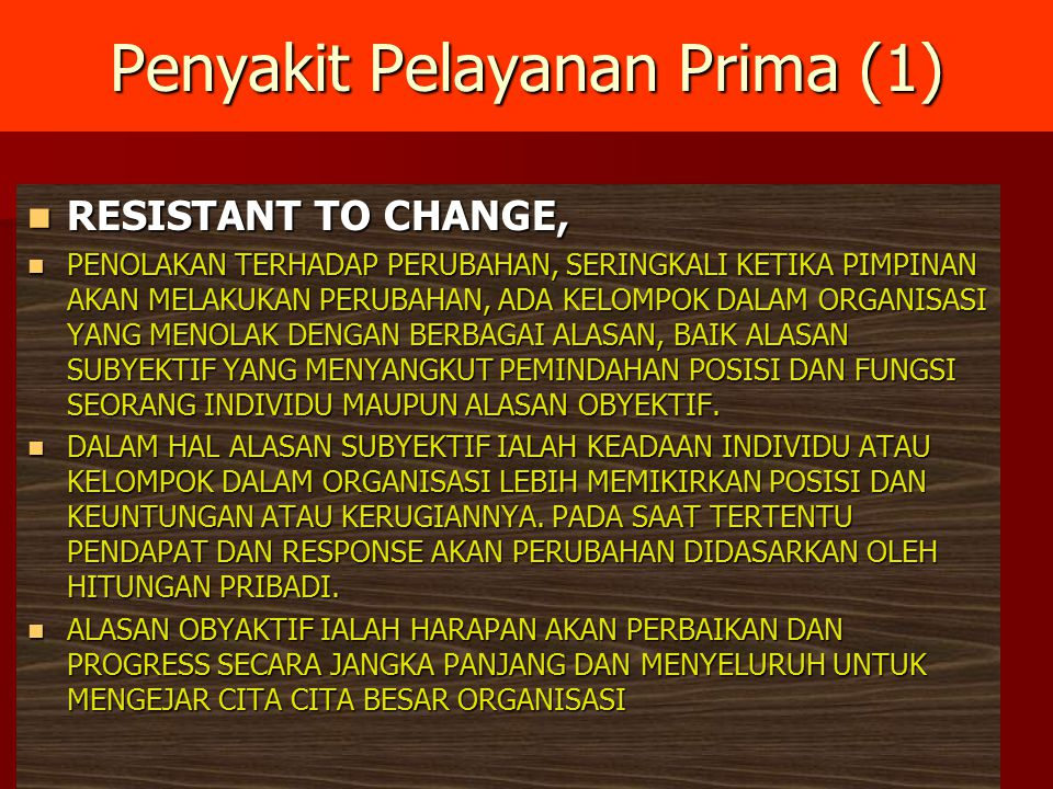 Penyakit Pelayanan Prima (1)