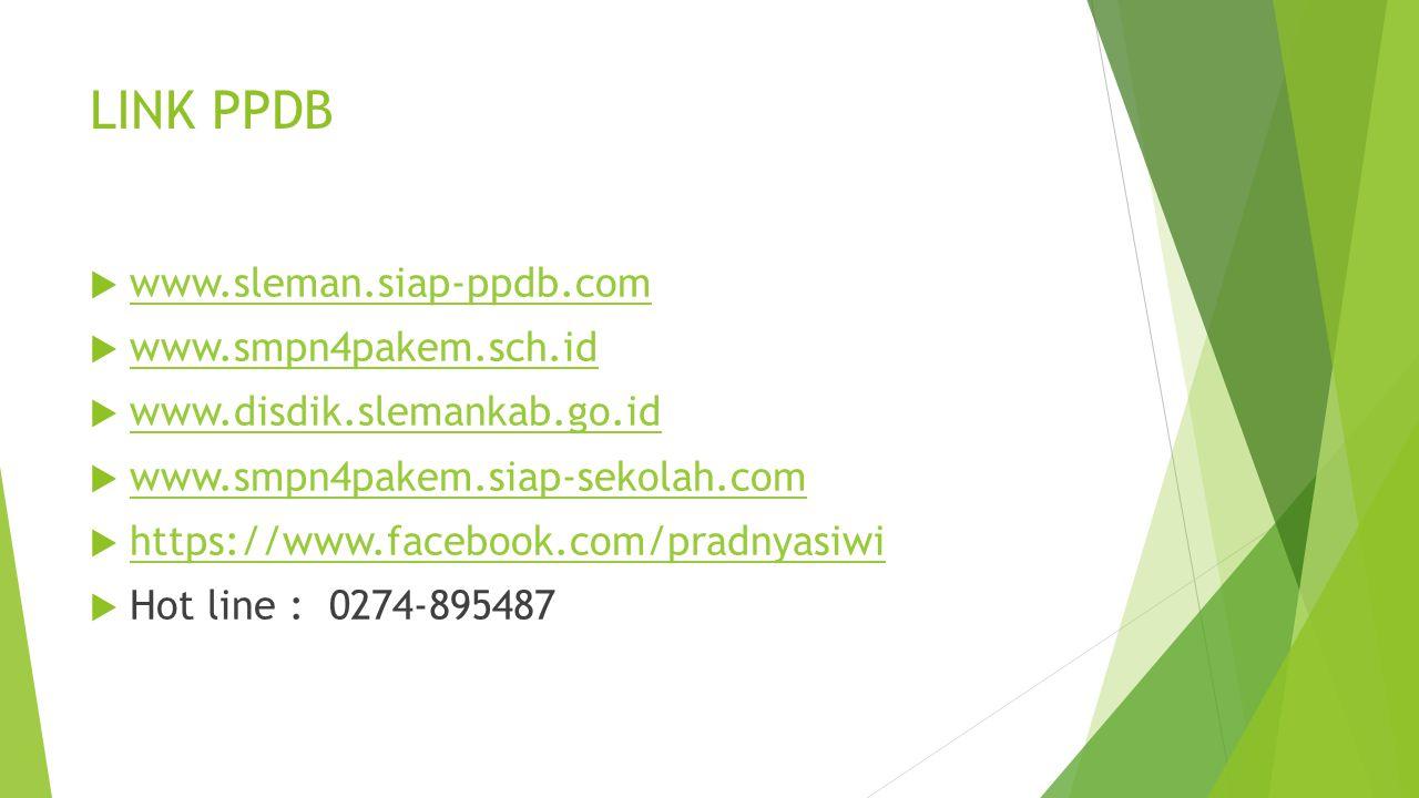 LINK PPDB www.sleman.siap-ppdb.com www.smpn4pakem.sch.id