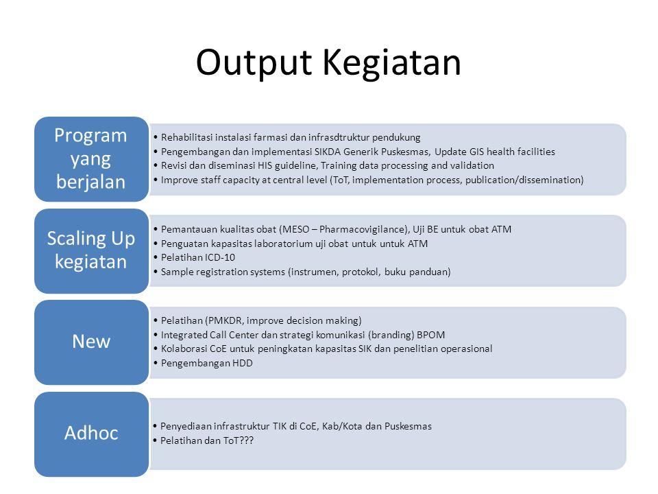 Output Kegiatan Program yang berjalan