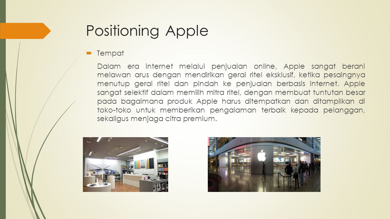 Positioning Apple Tempat