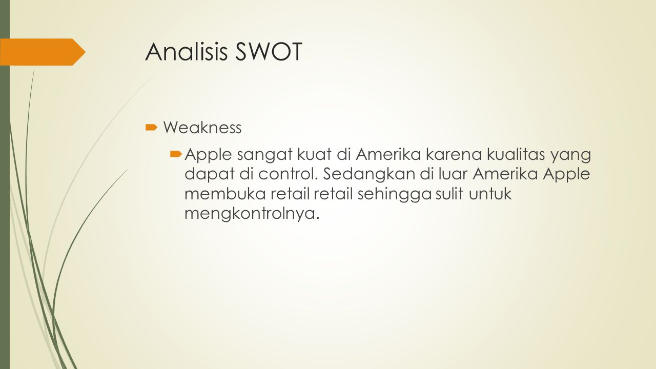 Analisis SWOT Weakness