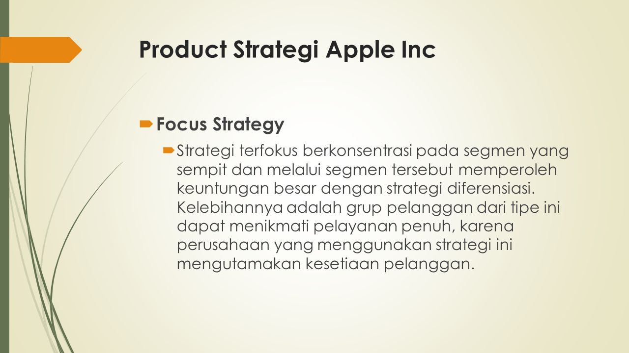 Product Strategi Apple Inc