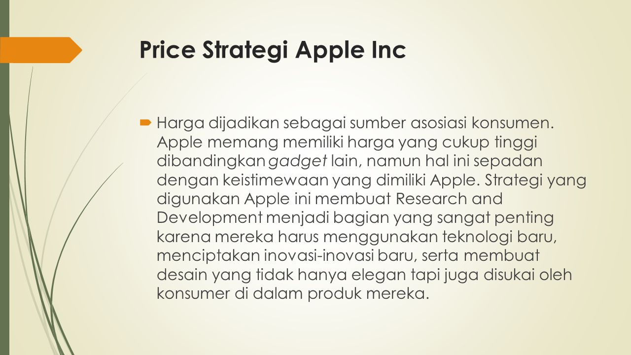 Price Strategi Apple Inc