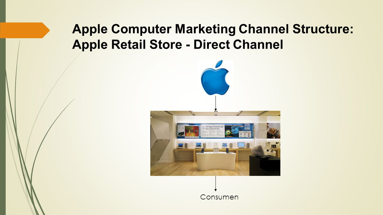 Apple Computer Marketing Channel Structure: Apple Retail Store - Direct Channel