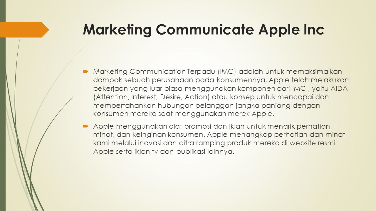 Marketing Communicate Apple Inc