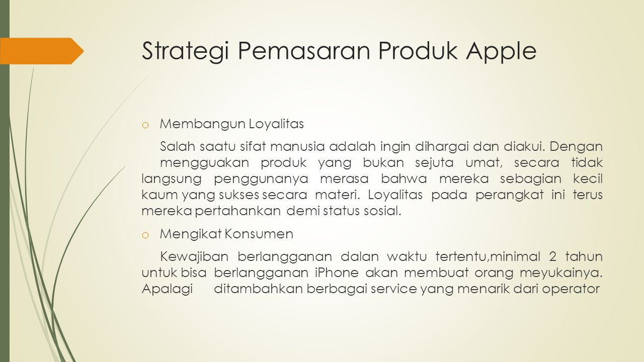 Strategi Pemasaran Produk Apple