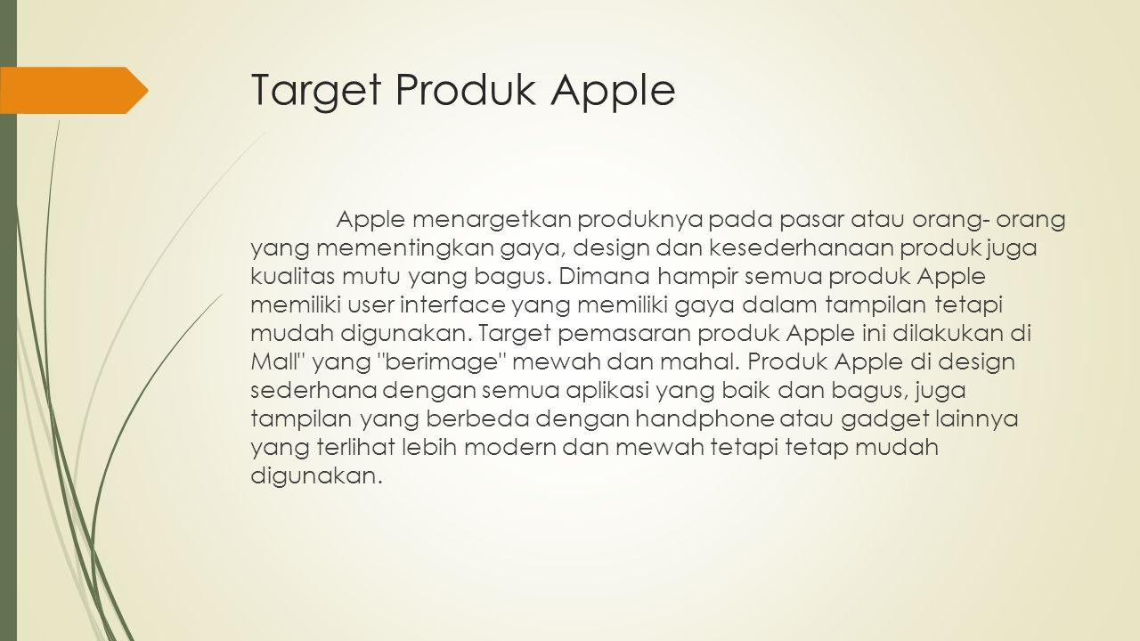 Target Produk Apple