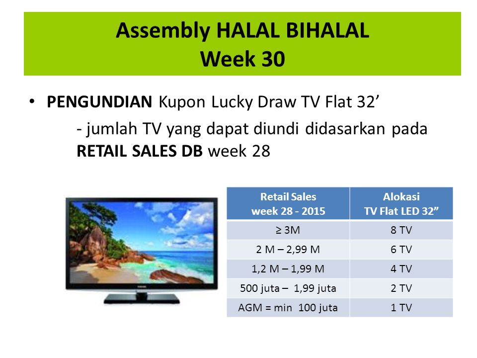 Assembly HALAL BIHALAL Week 30