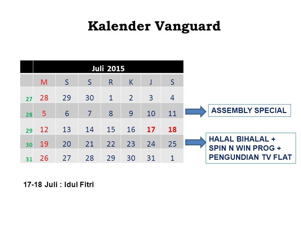 Kalender Vanguard Juli 2015 M S R K J 28 29 30 1 2 3 4 5 6 7 8 9 10 11