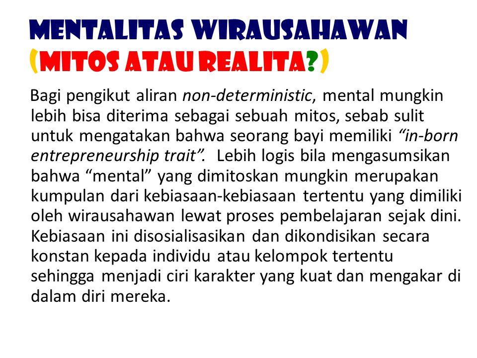 Mentalitas Wirausahawan (Mitos atau Realita )