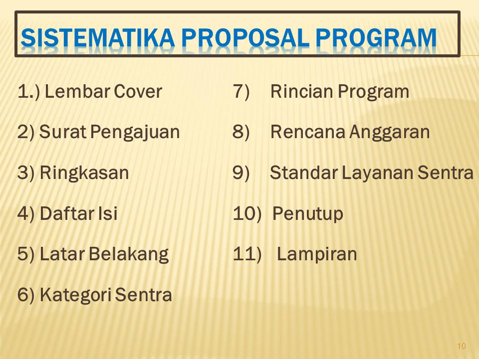 SISTEMATIKA Proposal Program