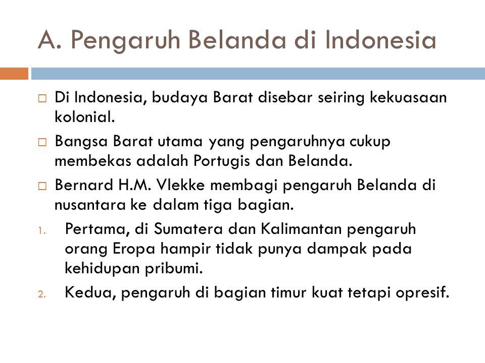 A. Pengaruh Belanda di Indonesia