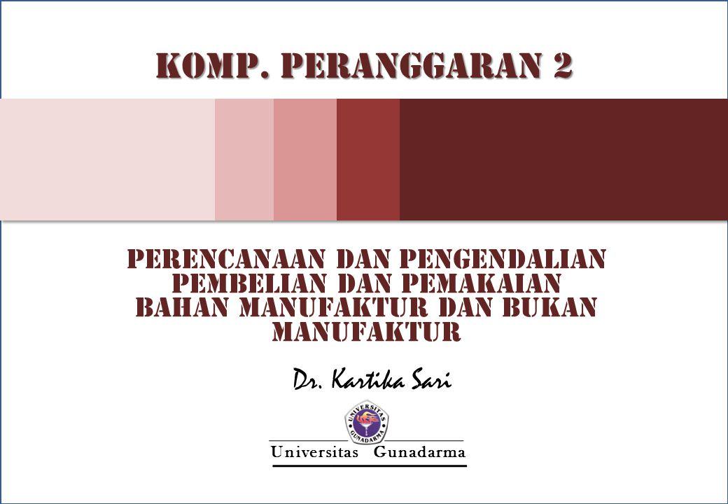 KOMP. PERANGGARAN 2 Dr. Kartika Sari