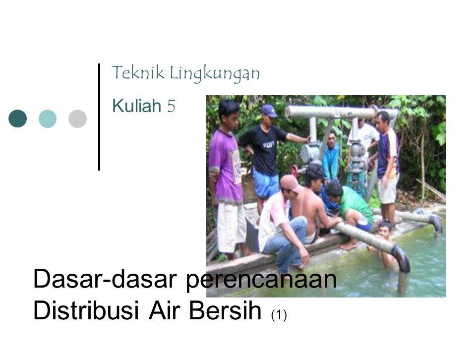 Dasar-dasar perencanaan Distribusi Air Bersih (1)