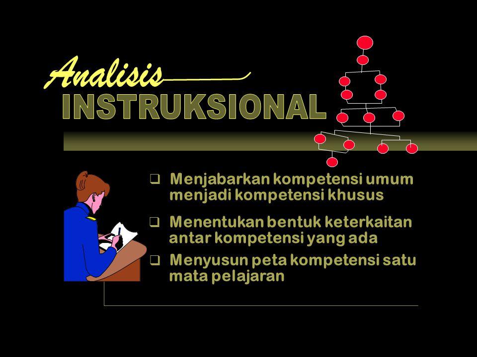 Analisis INSTRUKSIONAL Menjabarkan kompetensi umum