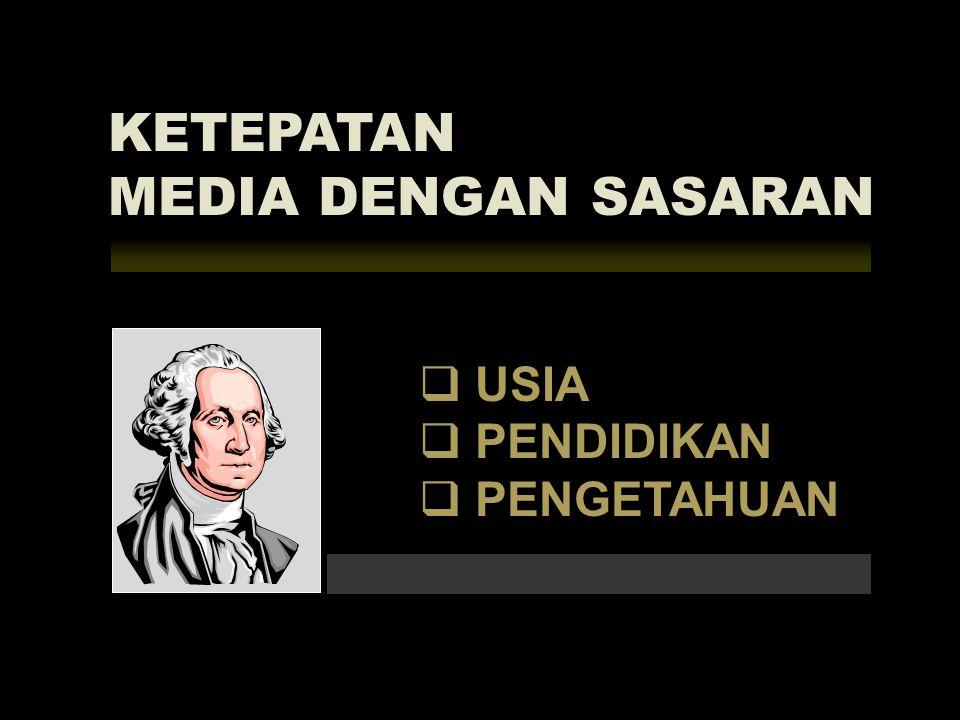 KETEPATAN MEDIA DENGAN SASARAN USIA PENDIDIKAN PENGETAHUAN