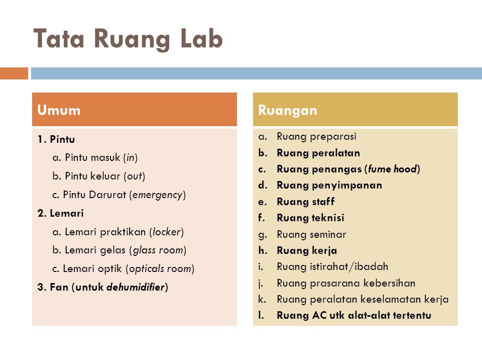 Tata Ruang Lab Umum Ruangan