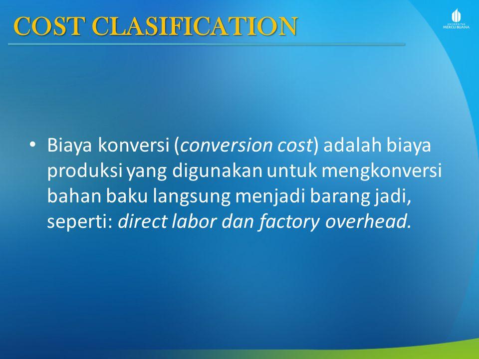 COST CLASIFICATION